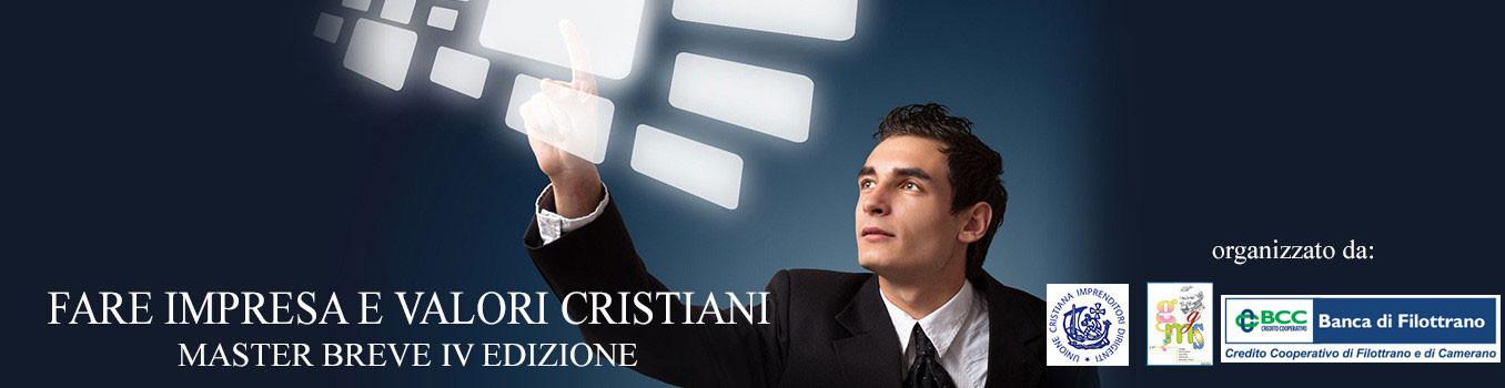 MASTER FARE IMPRESA E VALORI CRISTIANI